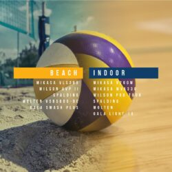 BeVolleyball Volleyballs for indoor and beach volleyball